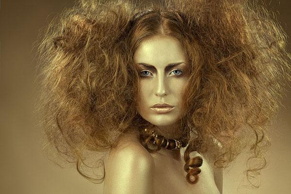 Đối với tóc ép hoặc uốn 1