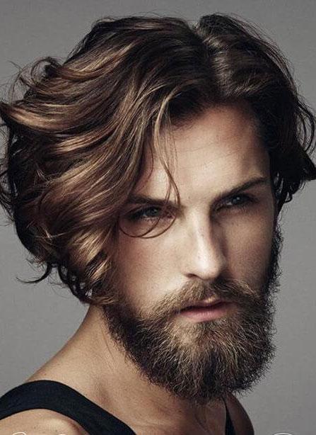 8. Kiểu tóc dài cho nam mặt dài 1
